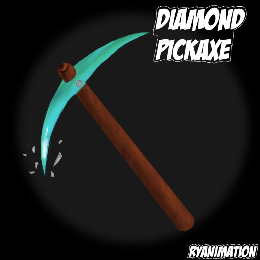 deviantART More Like Minecraft Diamond Pickaxe Speed Paint by 900x900