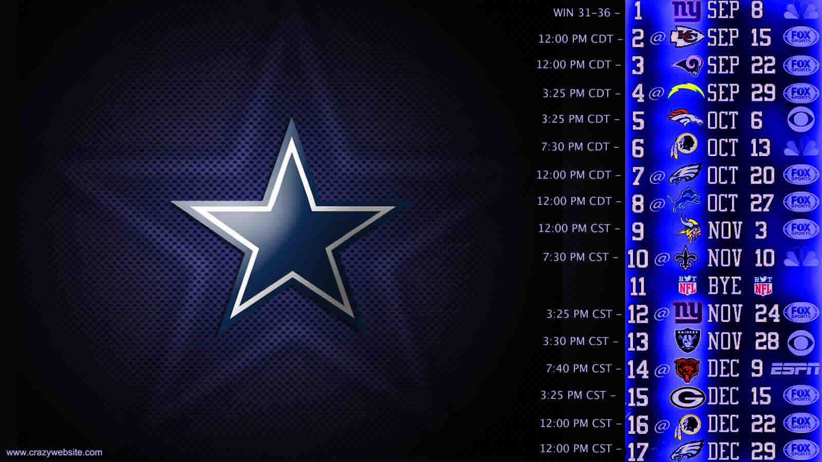dallas cowboys schedule desktop wallpaper wallpapersafari