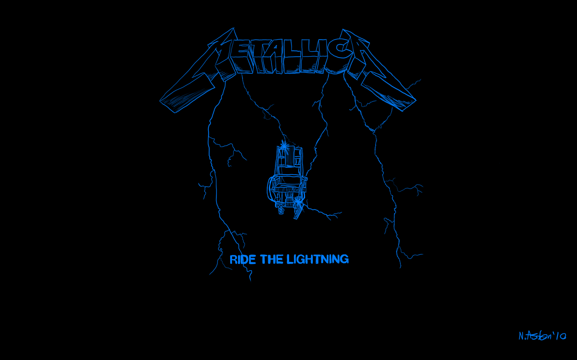 Ride The Lightning Wallpaper by nige111 1920x1200