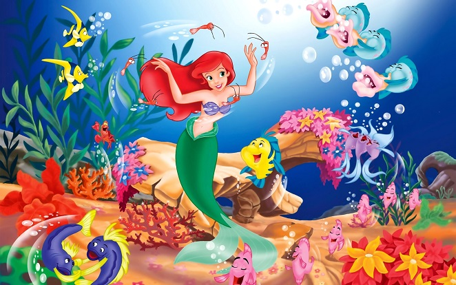 46+] Little Mermaid Wallpaper Mural on WallpaperSafari
