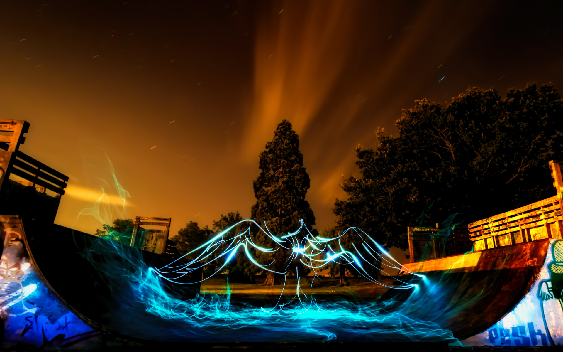 Electric Skate Park Angel Wings widescreen wallpaper Wide 1920x1199