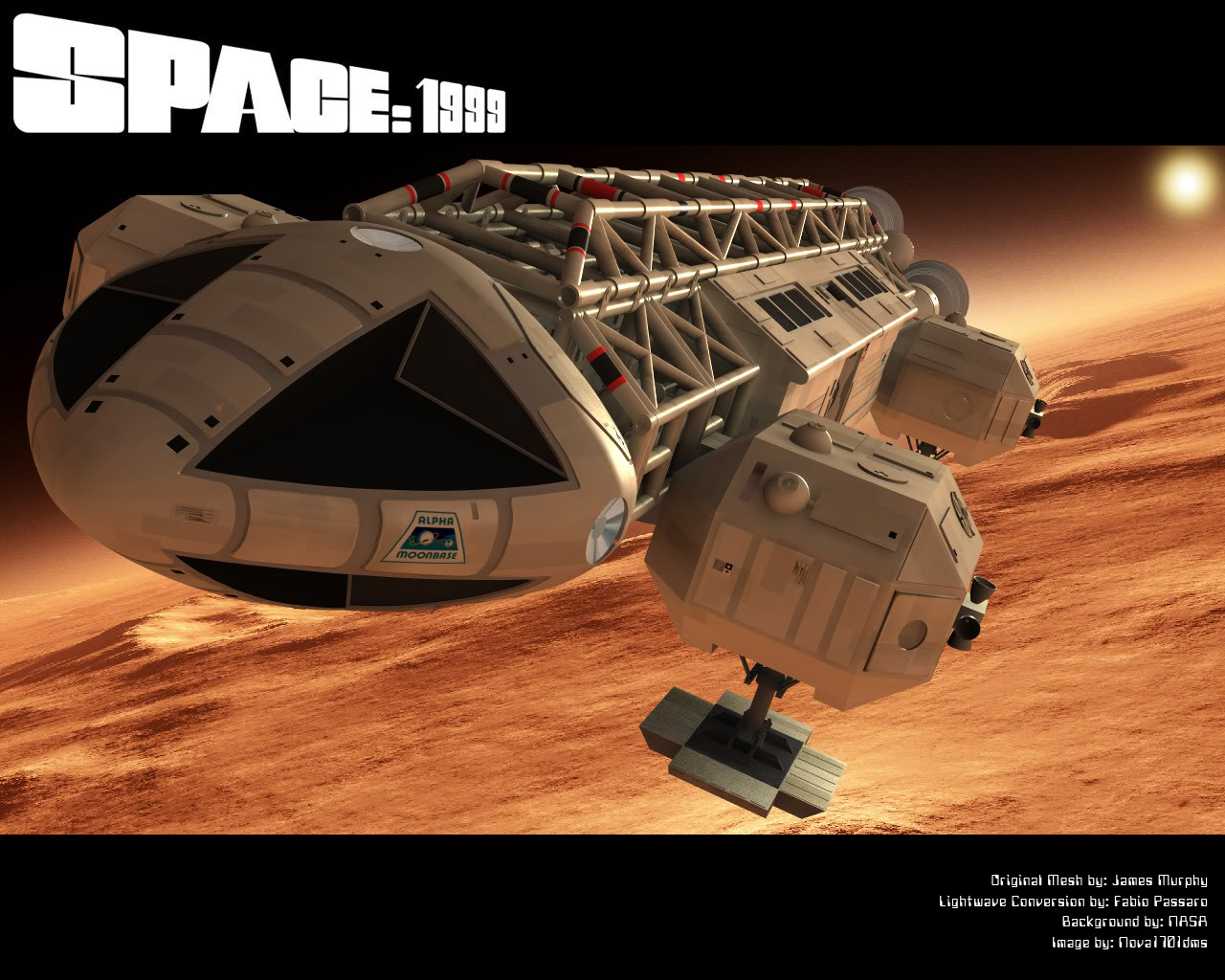 Eagle Wallpaper   Space 1999 Eagle Transporter Forum 1280x1024