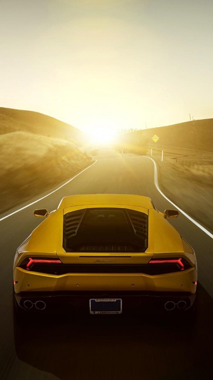 Download Lamborghini Car Rear Iphone 6 Wallpapers Hd Iphone 6