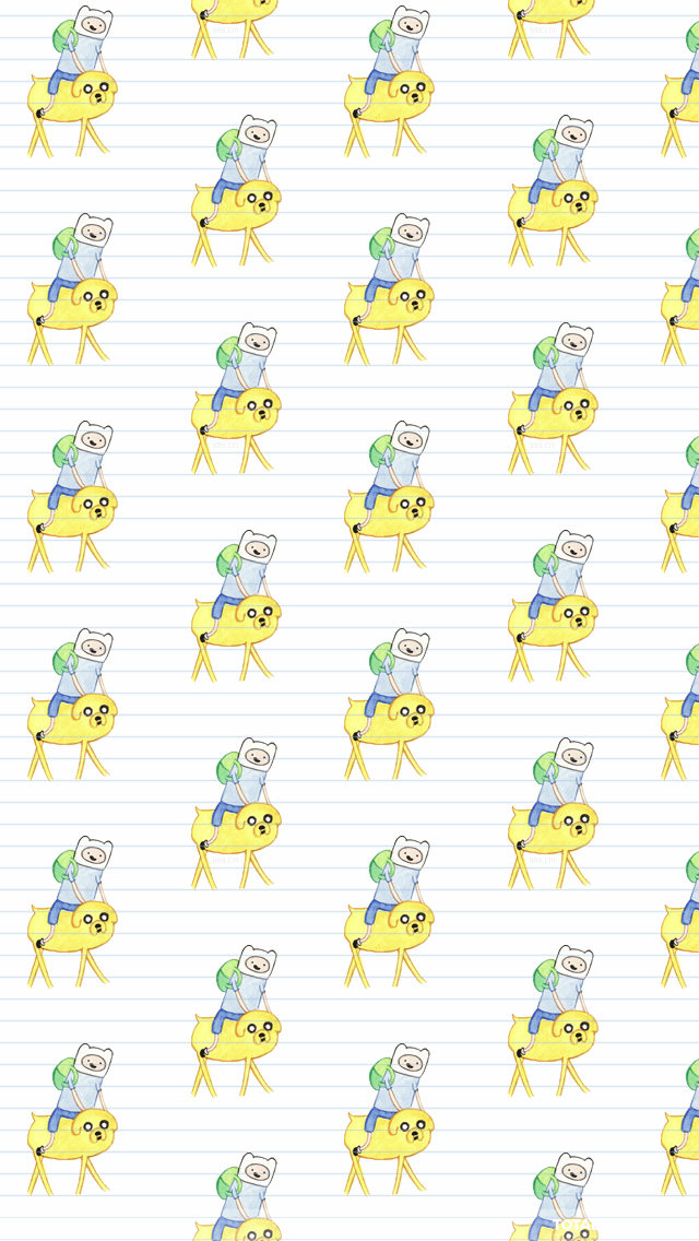 Adventure Time Lined Paper iPhone Wallpaper   Cartoon Wallpapers 640x1136