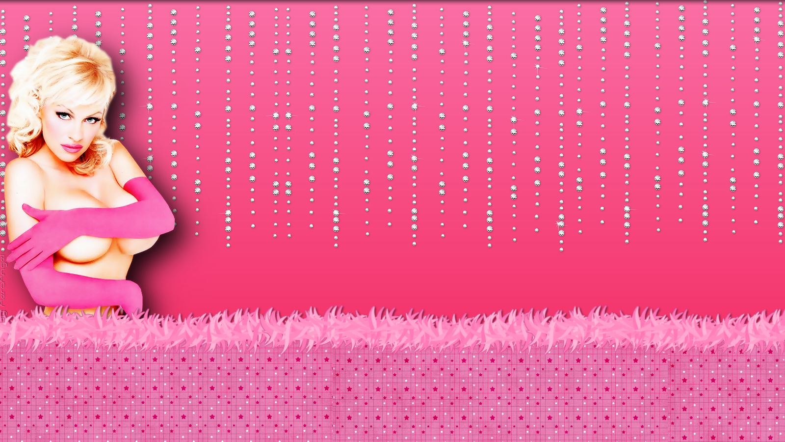 Pretty In Pink Twitter Backgrounds Pamela Anderson   Pretty In Pink 1600x900