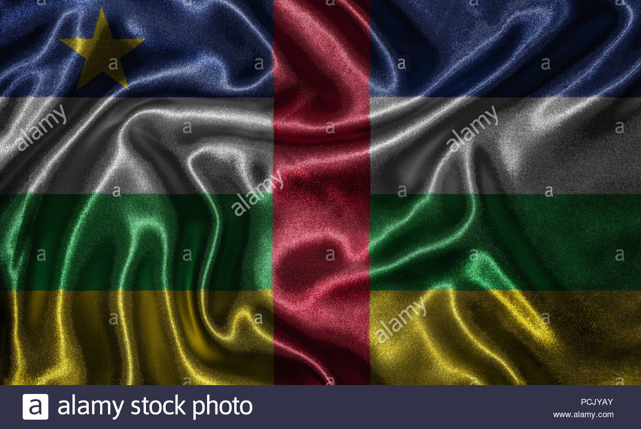 Central African Republic flag   Fabric flag of Central African 1300x870