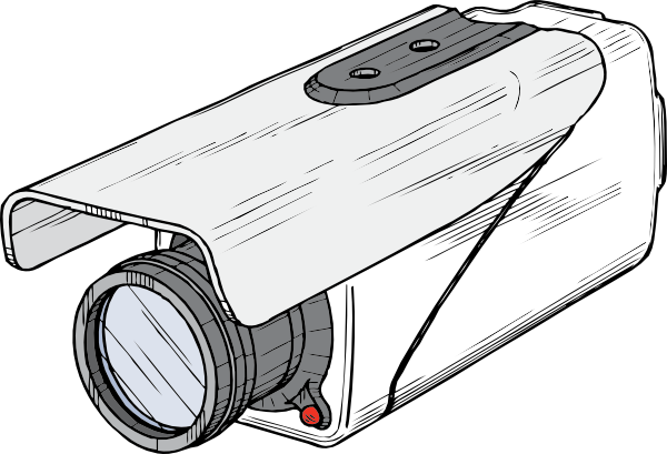 Cctv Camera Transparent Background Clip Art at Clkercom   vector clip 600x409