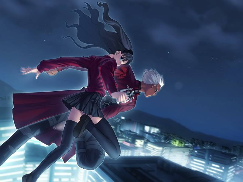 Rin and Archer A wallpaper of Rin Tohsaka and Archer 800x600