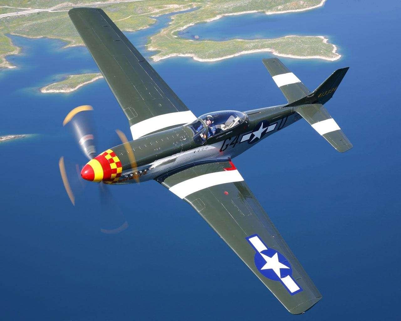 North American P 51d Mustang Wallpaper Hd Wallpapers 1280x1024