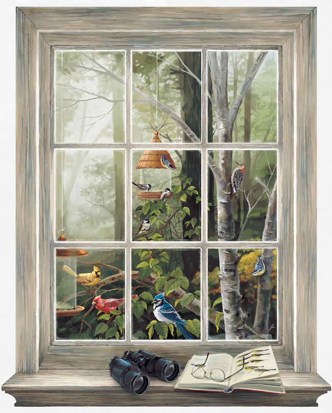 Faux Window Wallpaper Murals Wallpapersafari