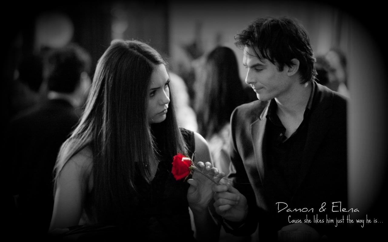 Damon And Elena Wallpaper - WallpaperSafari