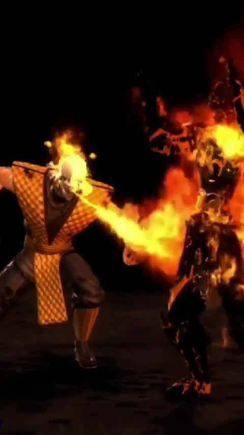 Kombat LWP   Android Informer Scorpion Mortal Kombat Live Wallpaper 480x854
