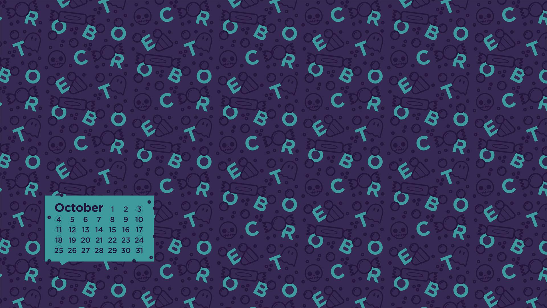 October 2015 Desktop Calendar Wallpaper Paper Leaf 1920x1080