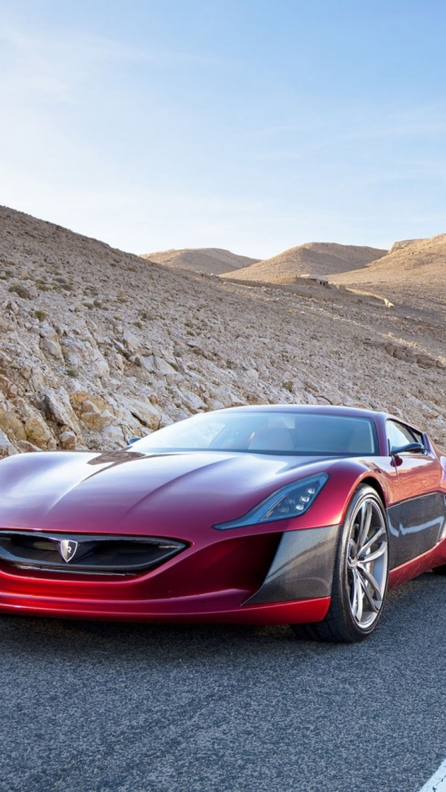 Rimac Concept One Superkar Car iPhone 6 6S Wallpapers Background 640x1136