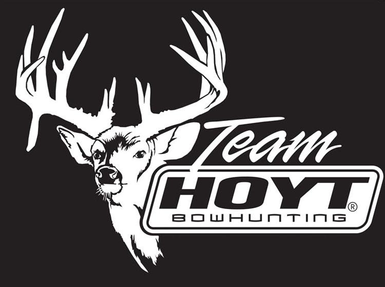 Hoyt Archery Decal Trash Buck Team Hoyt Bowhunter 9 x 65 White 750x559