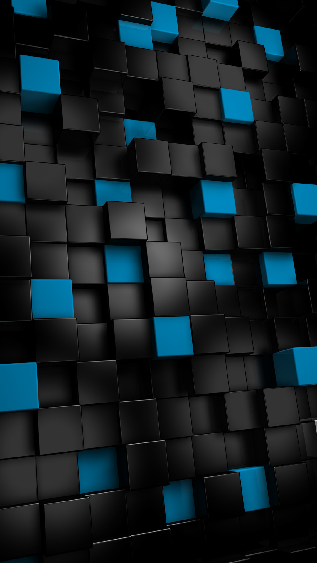 Abstract black cubes   Best htc one wallpapers and 1080x1920