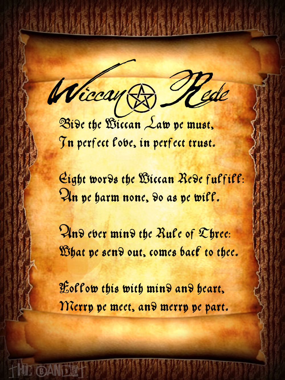Wallpaper Wiccan Rede 1000x1333