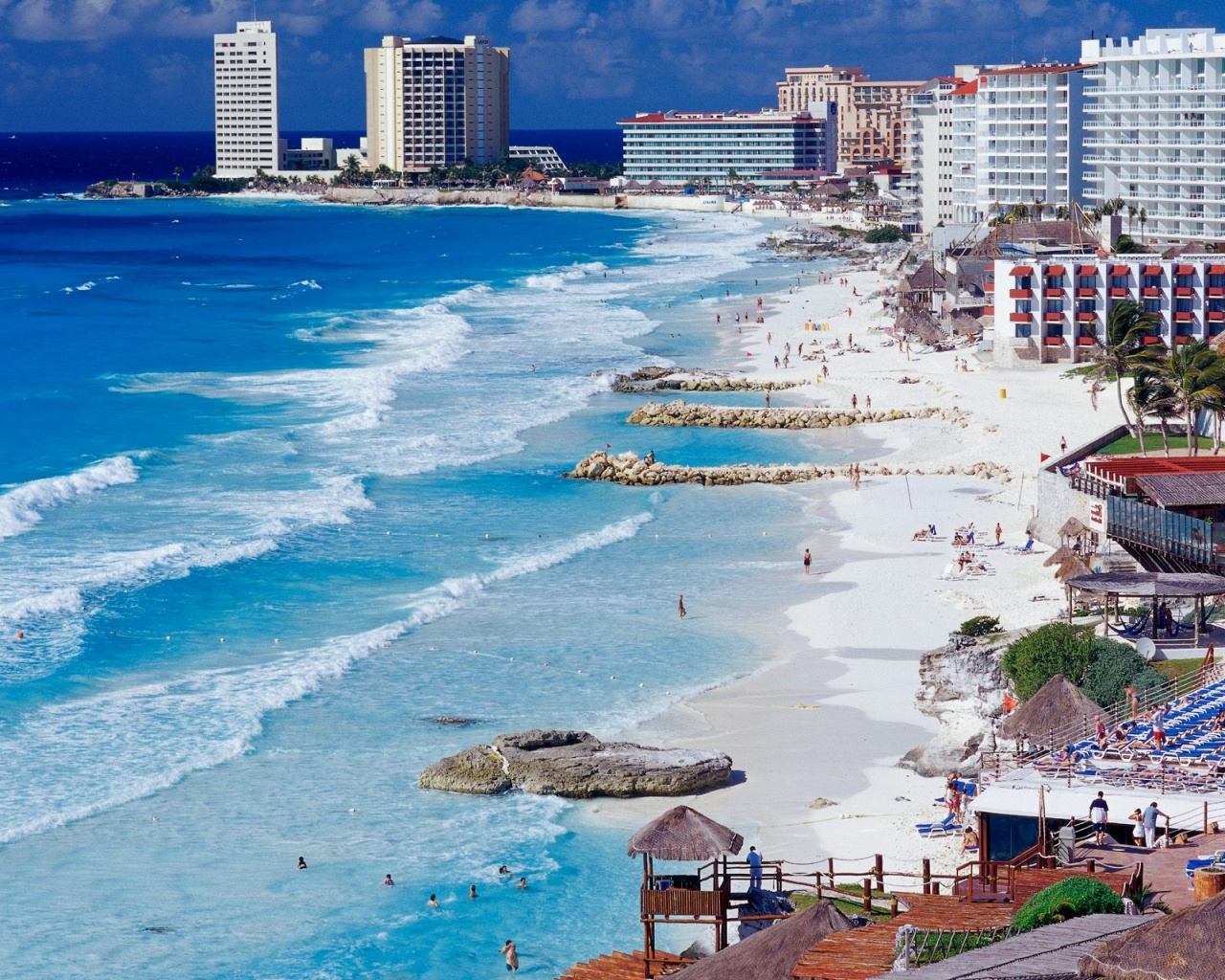 Cancun Shoreline Mexico Wallpapers HD Wallpapers 1280x1024