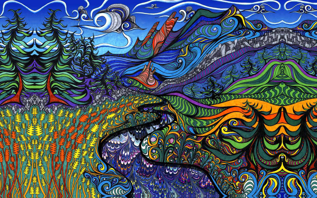 Download Psychedelic Landscape Wallpaper 1280x800 1280x800