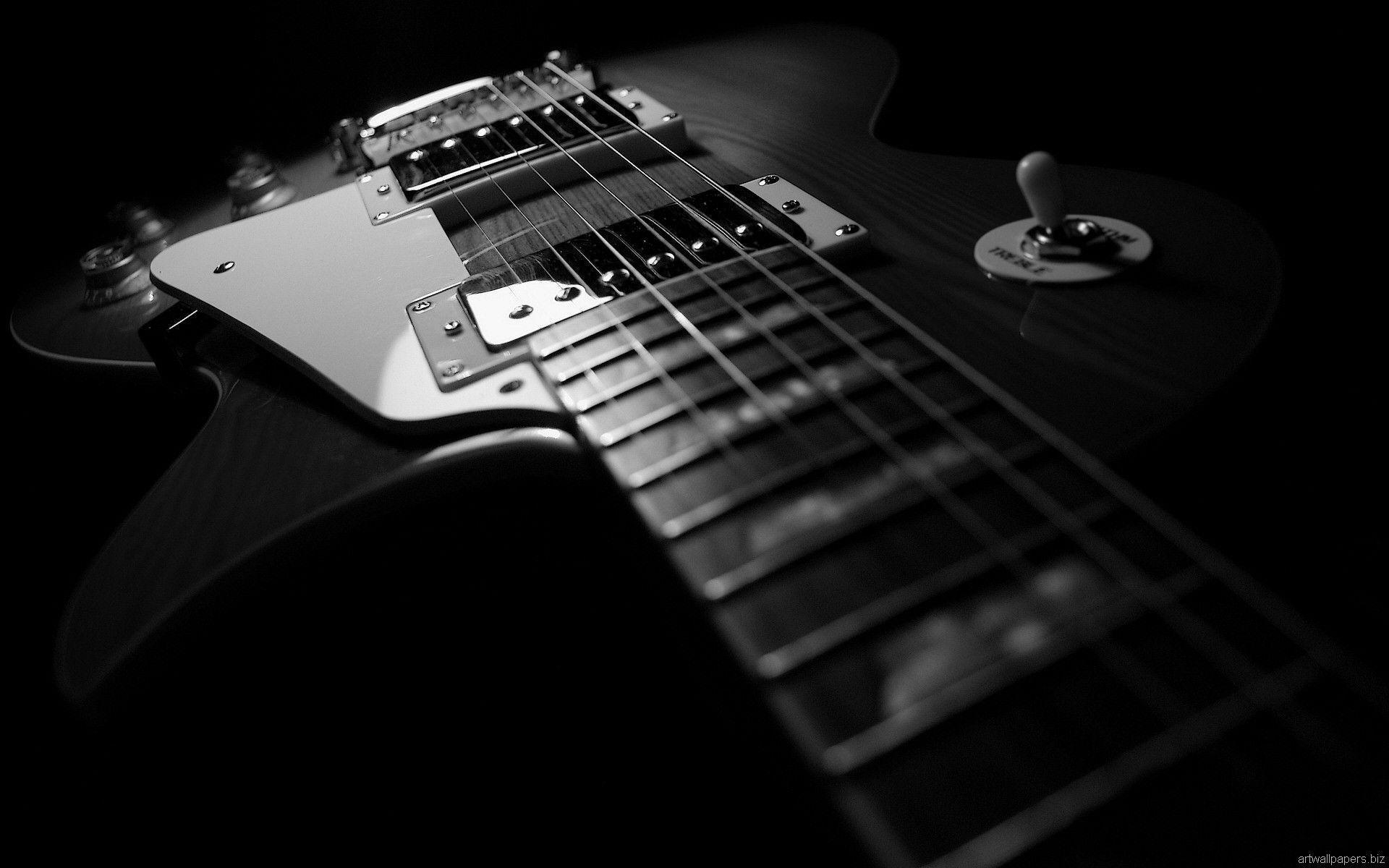 Guitar Black Backgrounds 1920x1200