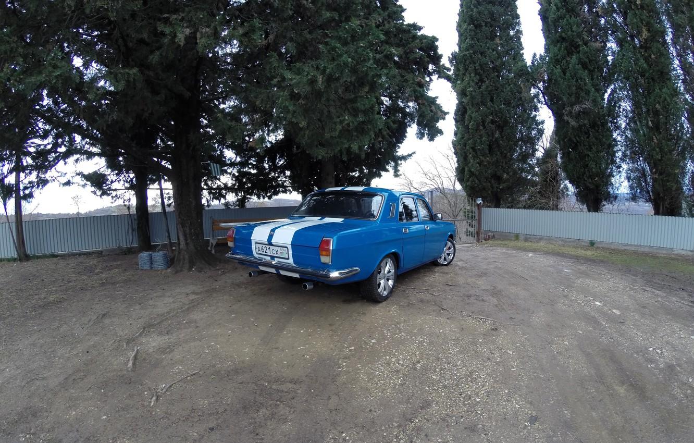 Wallpaper Volga White stripes GAZ 24 10 images for desktop 1332x850
