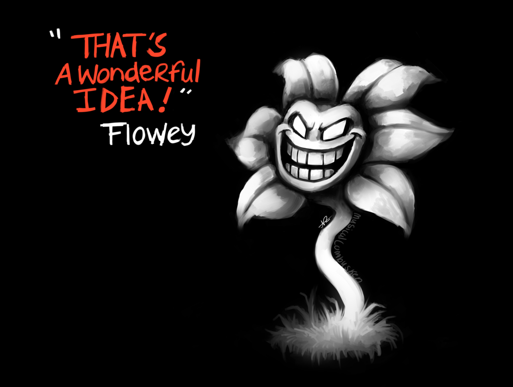 Flowey   Undertale by MusicalCombusken 1024x773