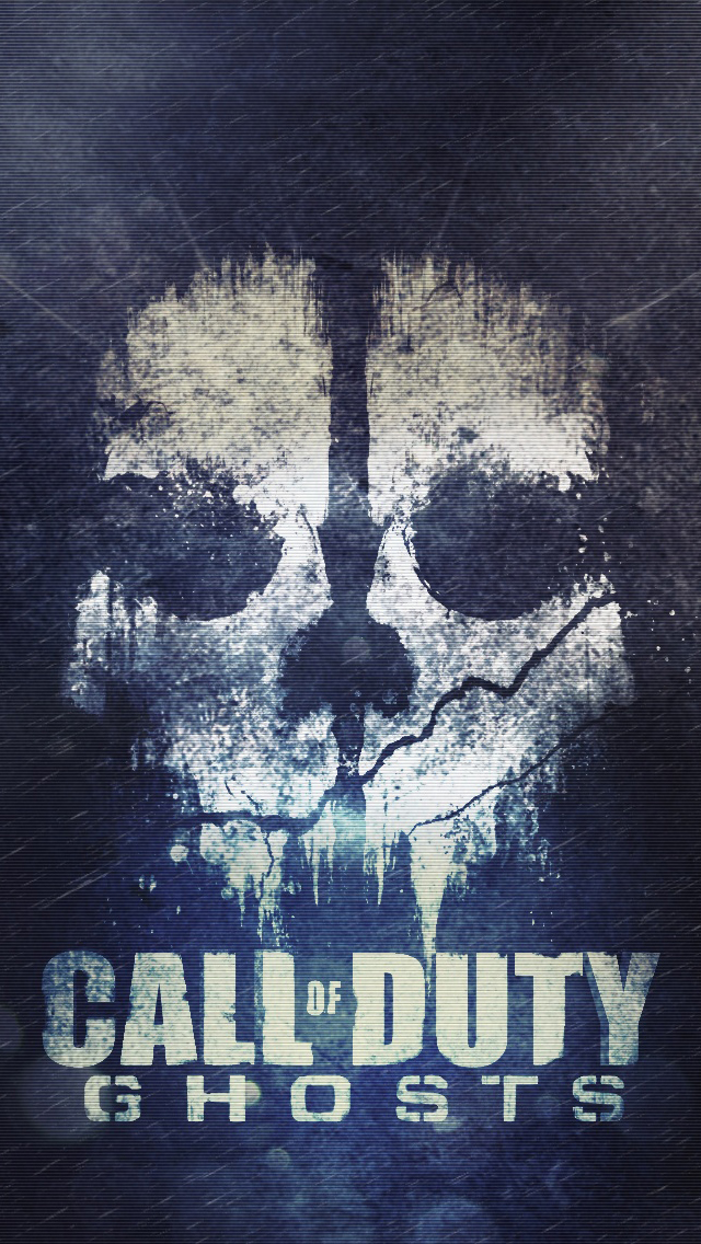 Cod ghosts skull iPhone Wallpapers Download 640x1136