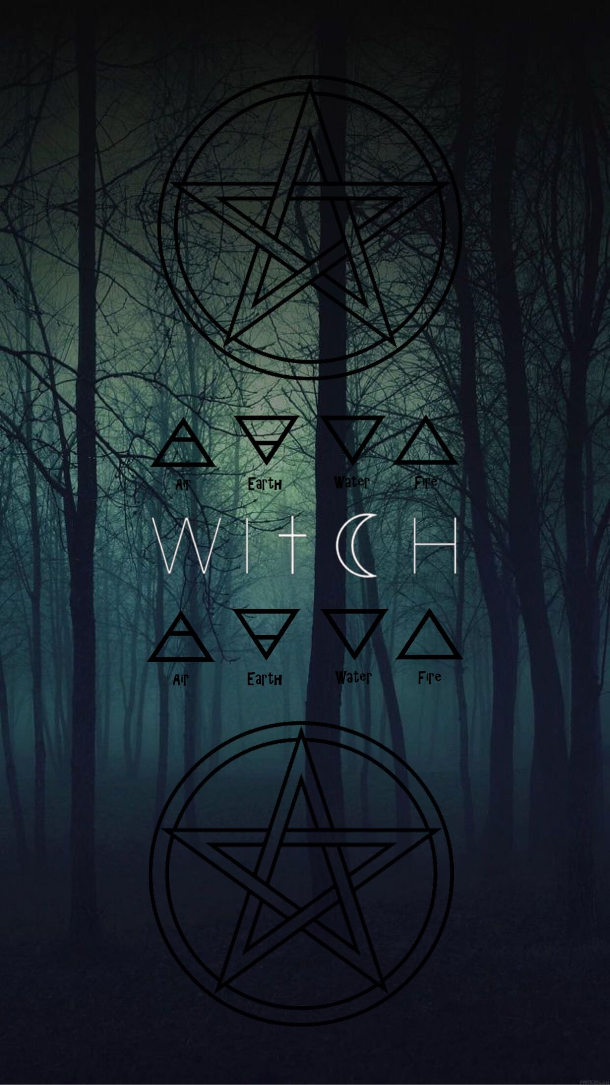 freetoeditwitch wicca wallpaper aesthetic remixit Witch 1242x2207