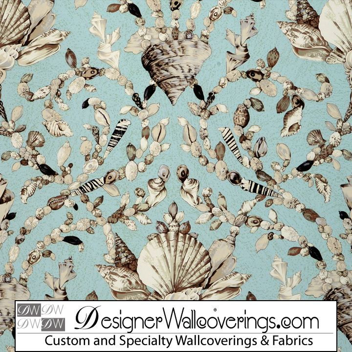 Shell Trellis Lattice Wallpaper [PAL 42075] Designer Wallcoverings 720x720