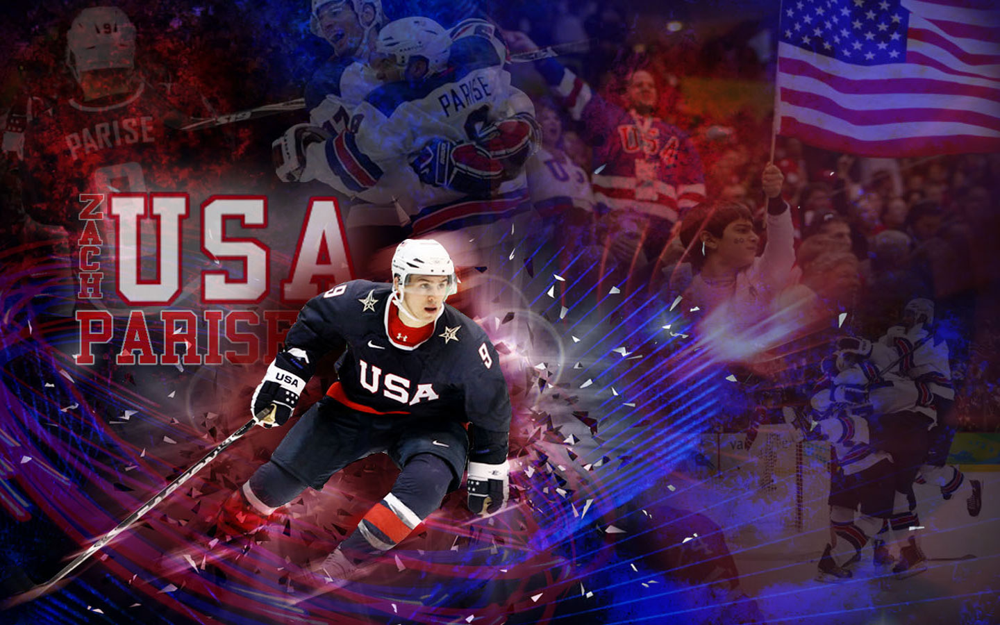 NHL Wallpapers   Zach Parise USA Team Widescreen wallpaper 1440x900