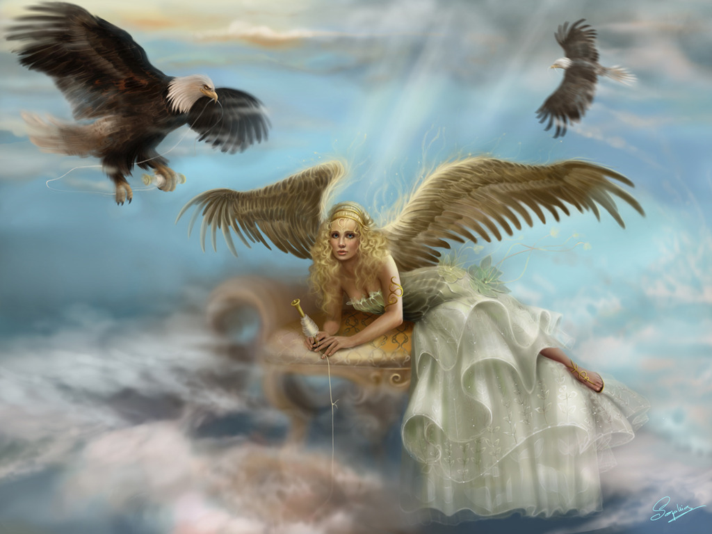 Angel World 3D Background Wallpapers Angel Background 1024x768