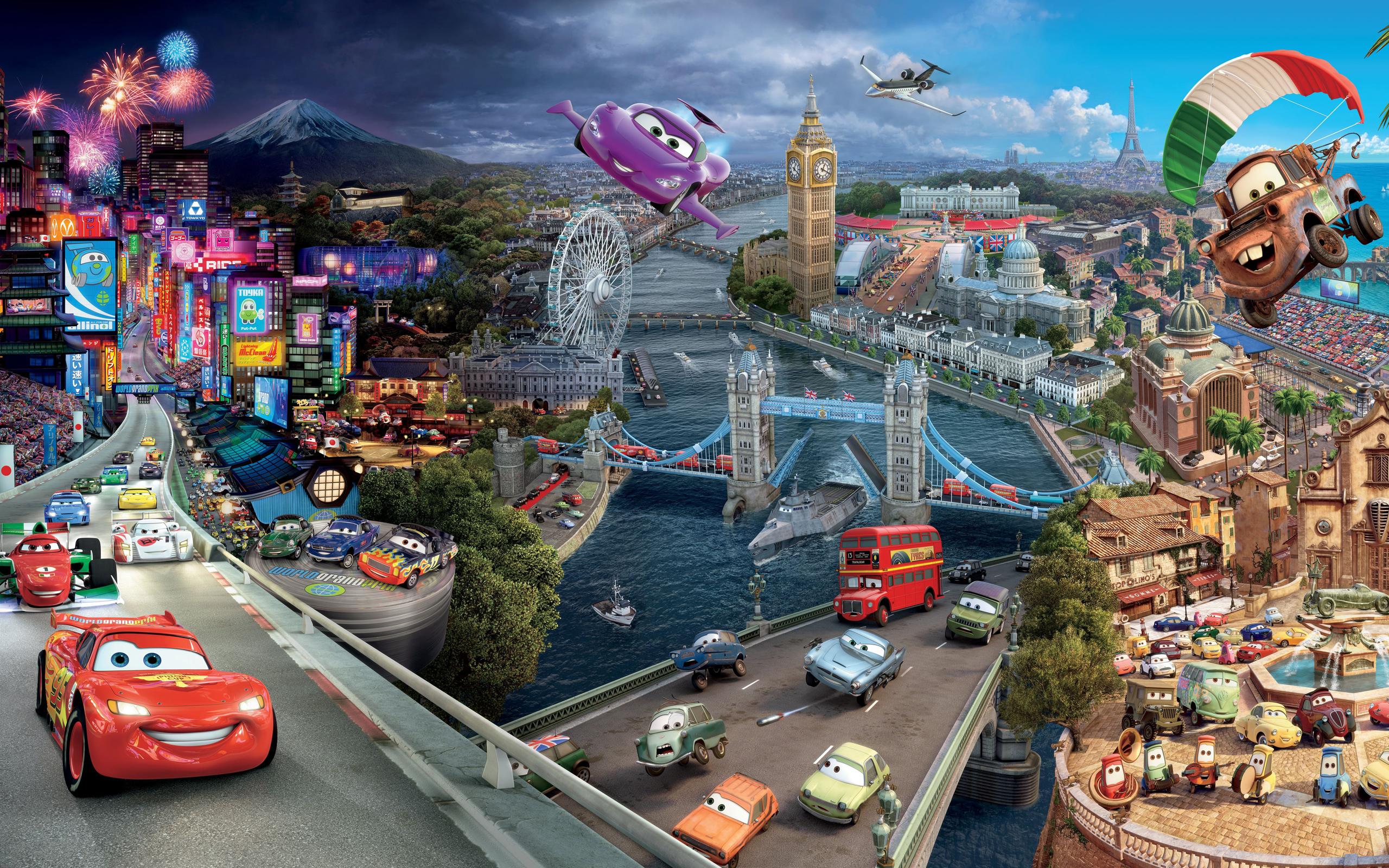 Cars 2   Disney Pixar Cars 2 Wallpaper 34551614 2560x1600