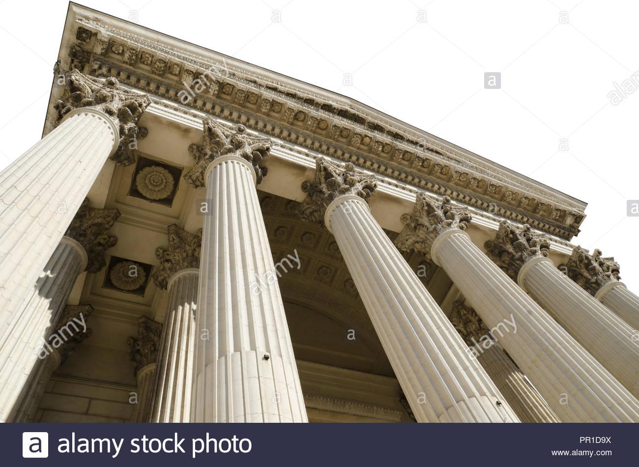 courthouse isolated on white background Stock Photo 220693926   Alamy 1300x951