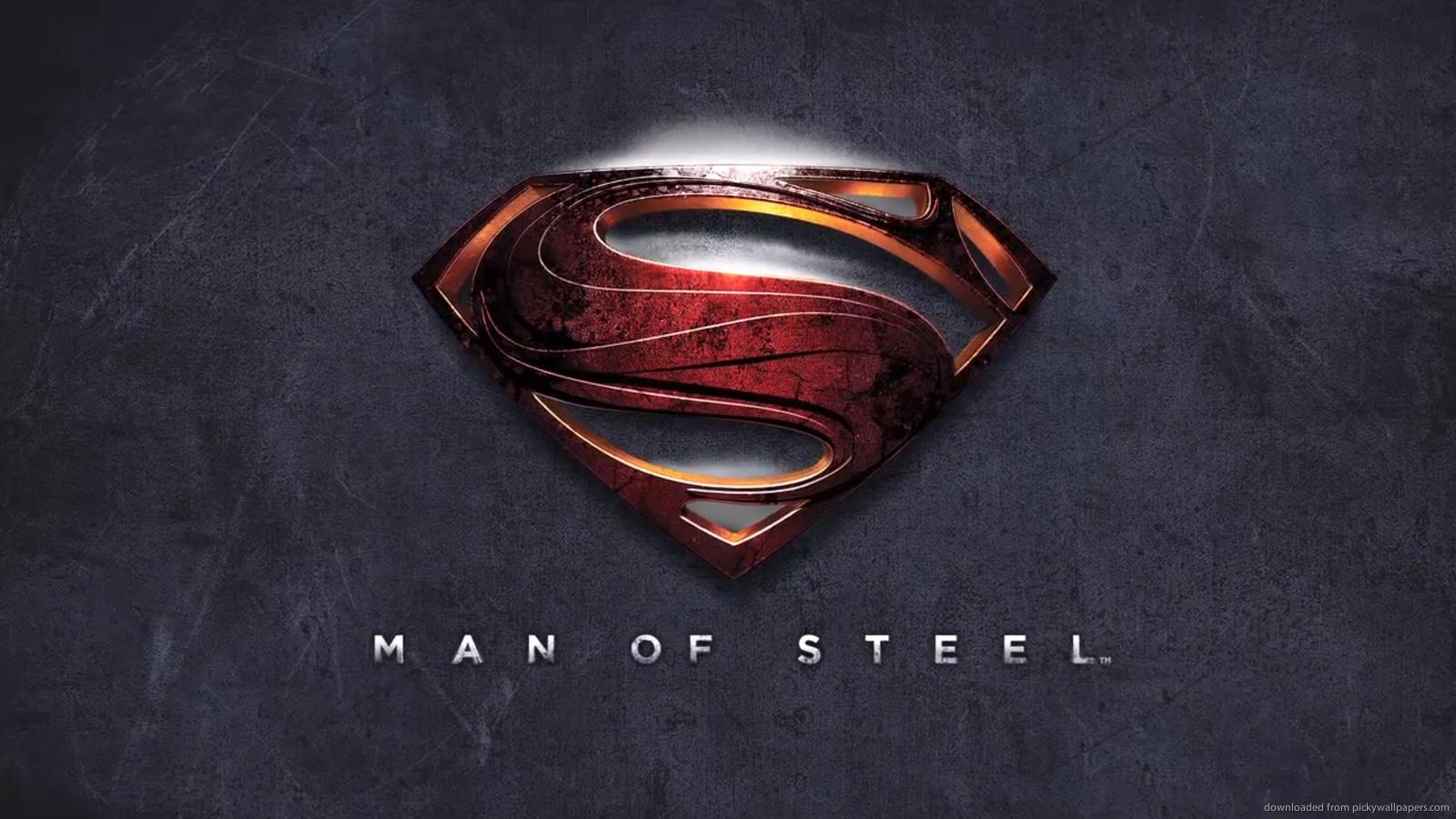 Man of steel wallpapers wallpapersafari 1600x900 man of steel logo wallpaper man of steel logo for 1600x900 biocorpaavc