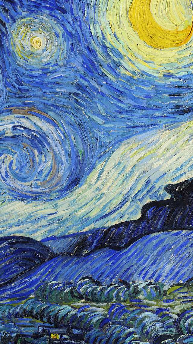 Vincent Van Gogh Starry Night Wallpaper 1006 wallpaper iphone 5jpg 640x1136