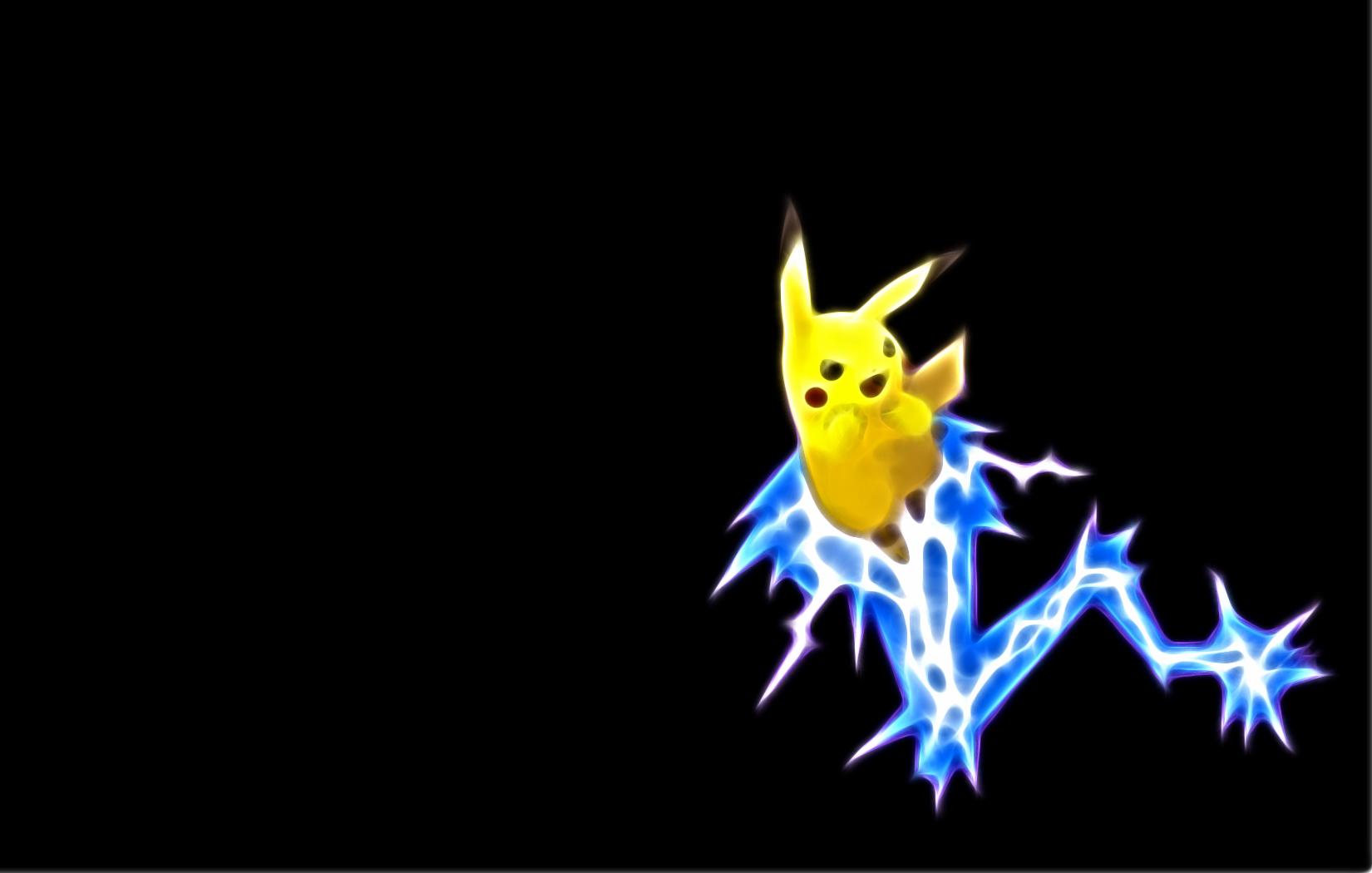 Pokemon Pikachu Wallpaper 1650x1050 Pokemon Pikachu Black 1650x1050