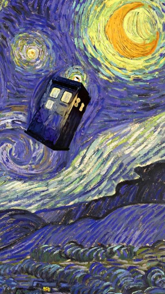 doctor; van; gogh; tardis; vincent; starry; night; images; pictures; iphone. Phone Wallpaper Ideas Doctor Who iPhone 5 Wallpaper Imgur 550x976