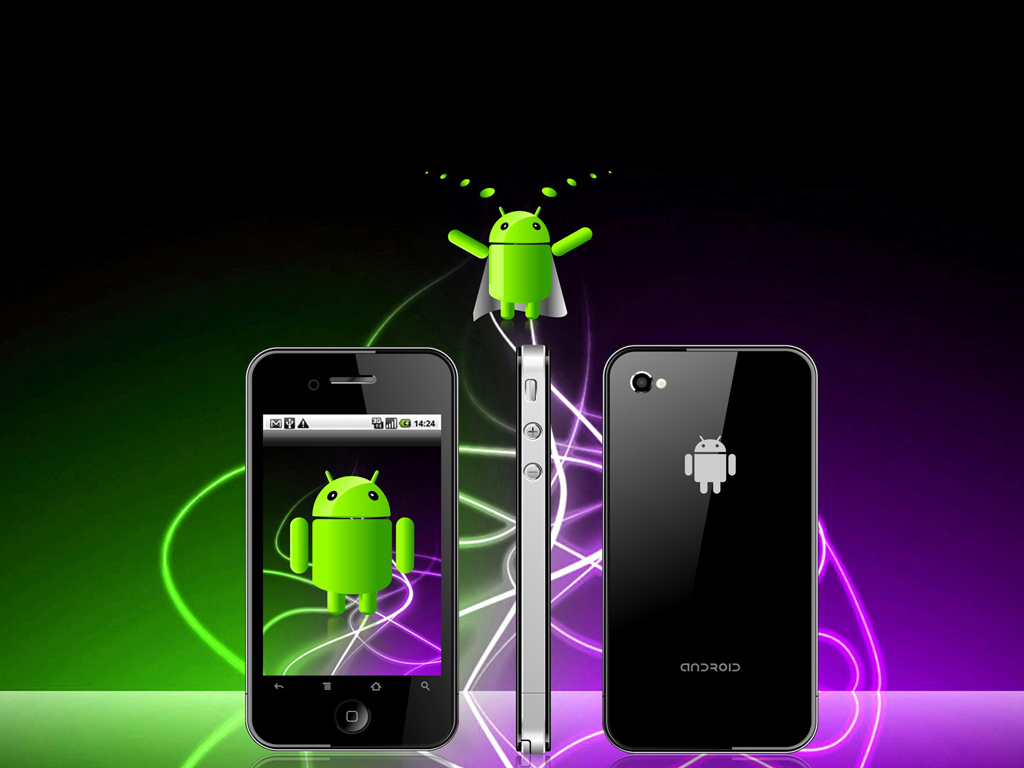 desktop wallpaper of Android Phone Operating System 1024x768