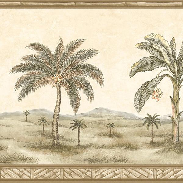 Brewster Olive Palm Tree Border Wallpaper   15214880   Overstockcom 600x600