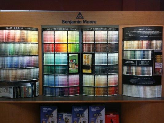 Benjamin Moore Paint chip rack Yelp 533x400