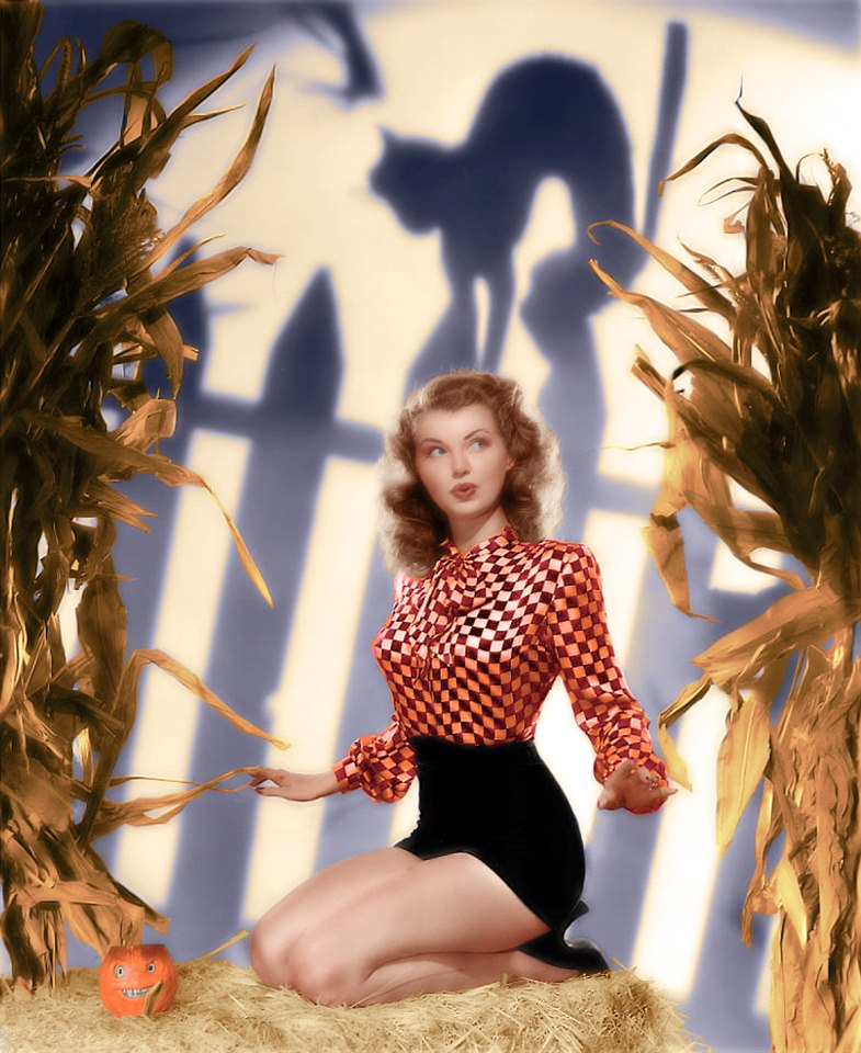 Fashion and Action Vintage Halloween Hollywood Glam Pin Ups 785x960