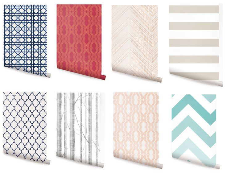 oakey interiors Thrifty Tuesday Removable Wallpaper for rentals 736x574