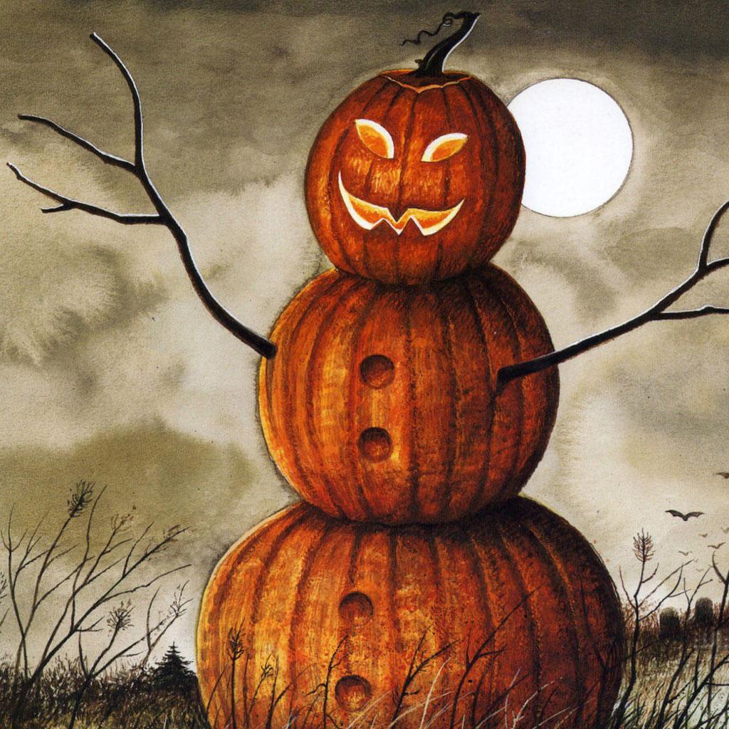 Pumpkins Man On Halloween Day Ipad Wallpapers 1024x1024 Hd Wallpaper 1024x1024