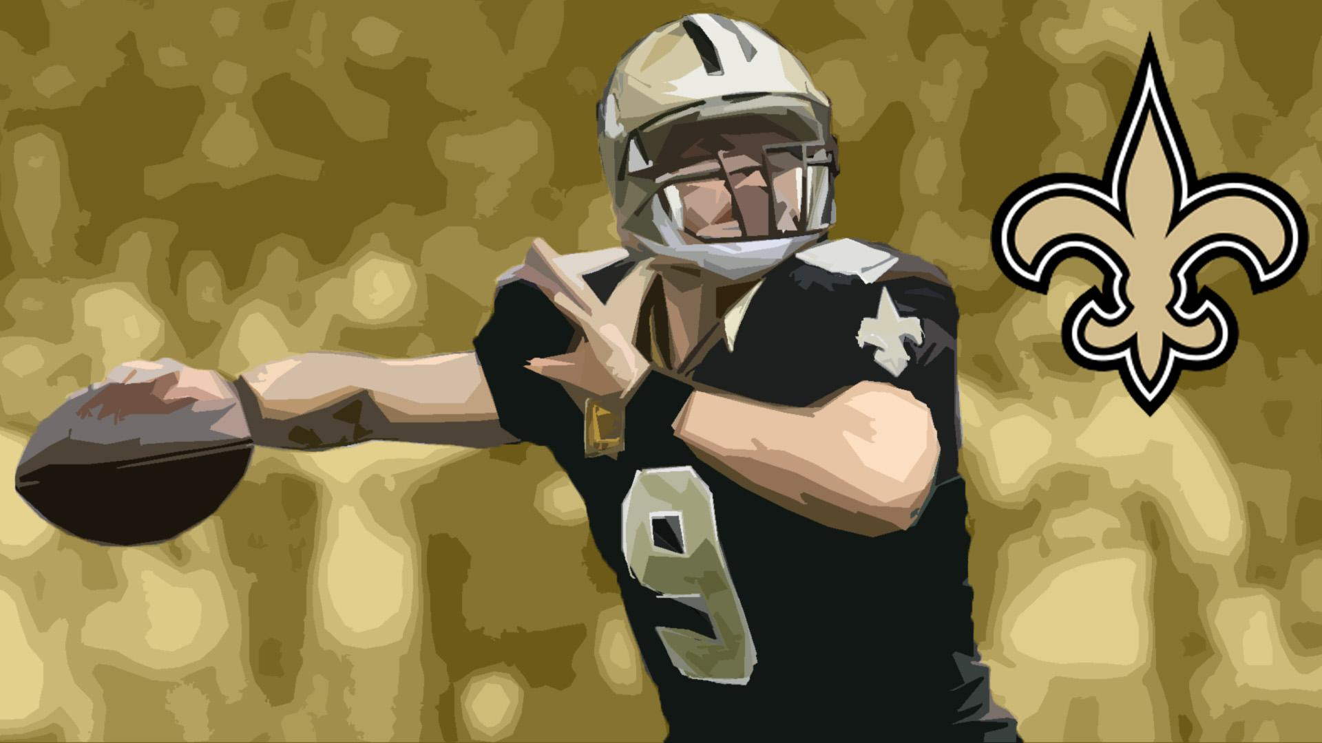 Wallpaper] Drew Brees Saints 1920x1080