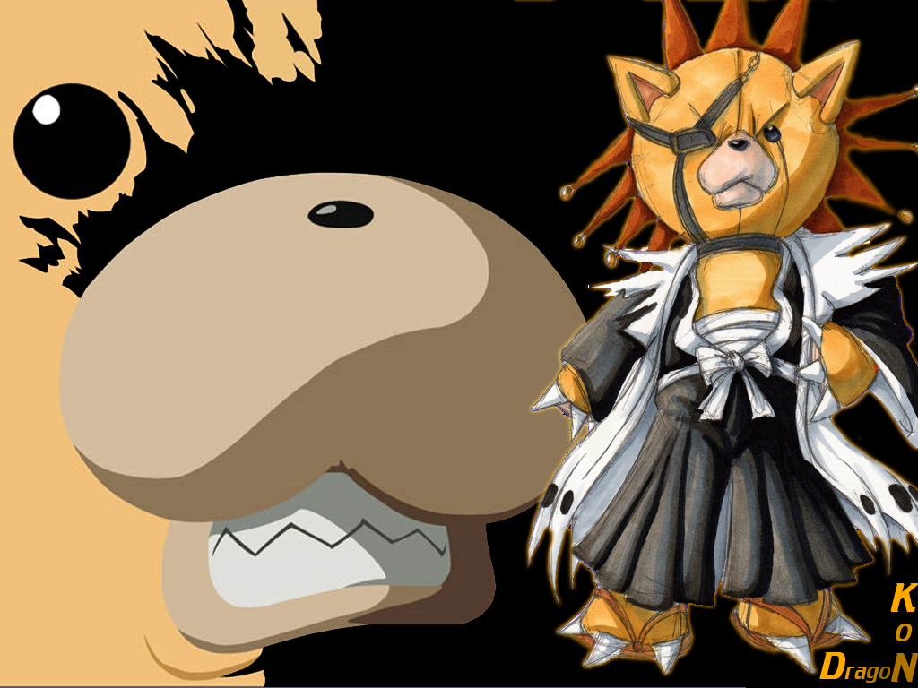 KON KENPACHI   Bleach Anime Wallpaper 20959638 1024x768