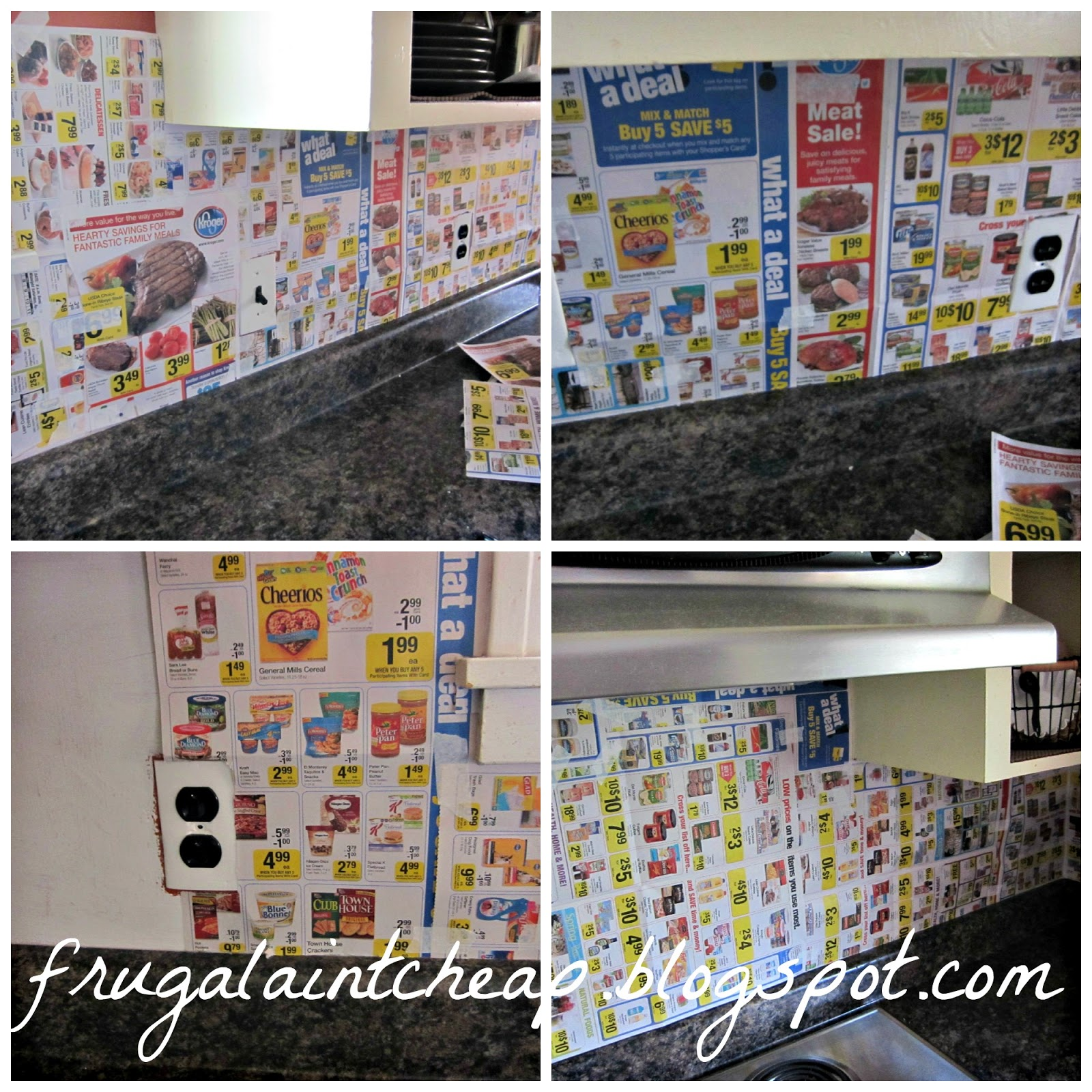 Frugal Aint Cheap Kitchen Backsplash great for renters too 1600x1600