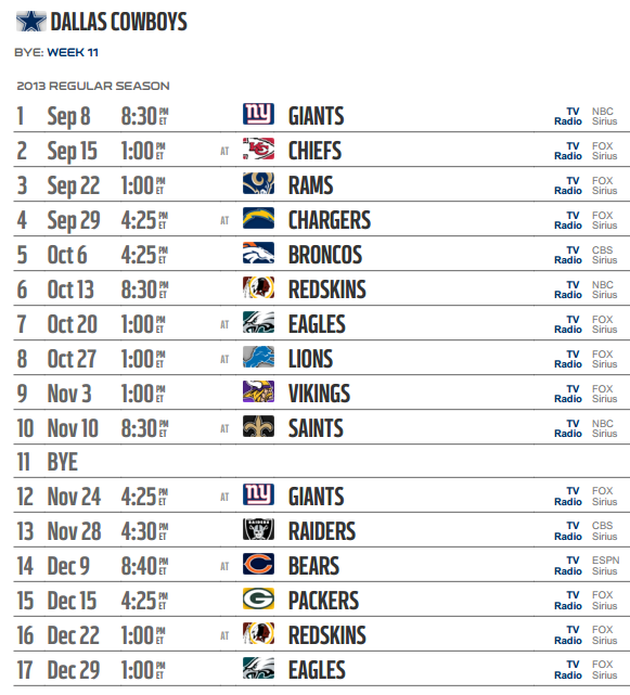 2014 2015 Nfl Schedule Printable Search Pictures Photos 581x641