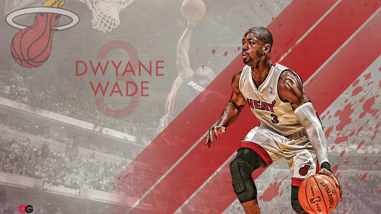 Dwyane Wade Wallpaper Miami Heat Super Leader Three Championships 1280x720