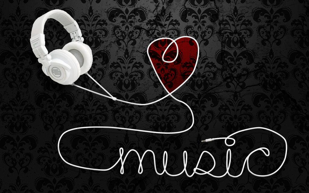 I Love Music Hd Wallpaper For Mobile: Music Heart Wallpaper
