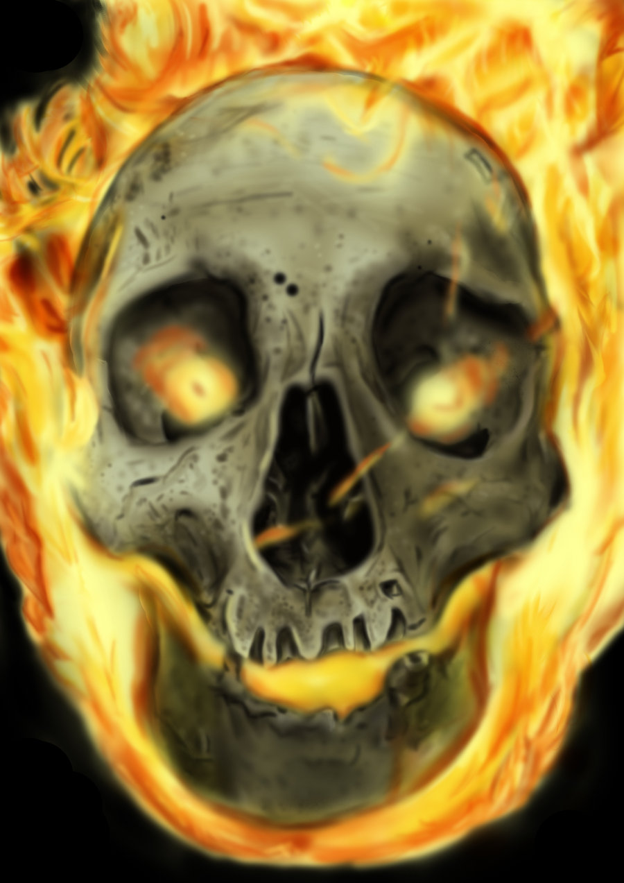 Ghost Rider Skull Wallpaper - WallpaperSafari